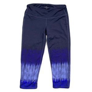 Athleta Capris Blue Multi Shade Activewear Size M